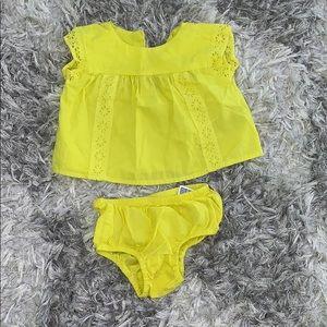 Baby Gap Neon Yellow Dress